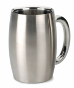 RSVP International Endurance Stainless Steel Double Walled Beer Mug, 440ml
