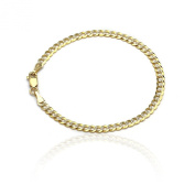Curb Cuban Chain Bracelet and Anklet - 10k Gold - 0.16 Inch (4mm)