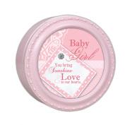 Baby Girl Cottage Garden Pink Finish Small Keepsake Jewellery Box