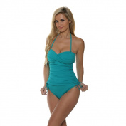 La Blanca Women's Core Solid Sweetheart Mio One-Piece