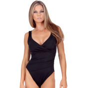 InstantFigure Women's One-Piece Wrap Swimsuit