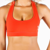 MissFit Activewear Orange Compression Razorback Sports Bra