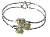Irish Shamrock Bangle with Connemara Marble by Solvar
