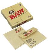 RAW Unrefined Parchment Paper Pouch 7.6cm x 7.6cm 20 Pouch Box