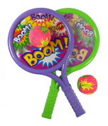 Boom Drum Racket Sports Set for Kids with 2 Rackets and Soft Balls