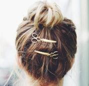 cuhair(TM) 2pcs punk scissors metal desgin for girl hair clip Barrettes claw accessories