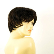 short wig for women 100% natural hair chocolate brown ref MALORIE 1b30