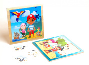 Pirate Themed Wooden Jigsaw Puzzle Children Kids Toy  .