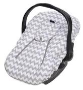 Jolly Jumper Sneak a Peek Sneak-a-Peek Infant Carseat Cover Deluxe Chevron