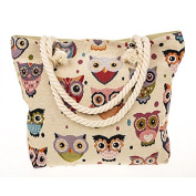 Traditional Tapestry Owl Tote Bag