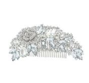 Bridal Rhinestones Flower Hair Comb