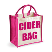 Medium Jute Bag Cider Bag Pink Bag Mothers Day New Mum Birthday Christmas Present