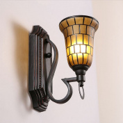American Latticed Pattern Living Room Wall Sconce European Vinatge Metal Bedroom Bedsides Wall Lamp Balcony Corridor Wall Ligthing Fixtures