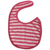 Reversible Pink Stripe Organic Baby Bib