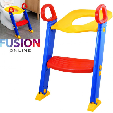 BABY TODDLER SAFETY POTTY TRAINING LADDER STEP TOILET SEAT LOO TRAINER SYSTEM UK