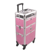 Sunrise Professional Aluminium 2-in-1 Trolley Makeup Case
