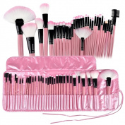 Zodaca 32-piece Pink Professional Beauty Makeup Brushes Tool Set with Pouch Bag