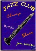 FRENCH VINTAGE METAL SIGN 20x15cm JAZZ CLUB AMBIANCE CLARINET
