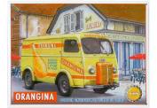 FRENCH VINTAGE METAL SIGN 40x30cm RETRO AD ORANGINA PEUGEOT D4A BY ETIENNE PRAT