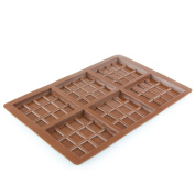 65g - 6 Square 12 Section Silicone Chocolate Bar Mould