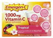 Pack of 1 x Alacer Emergen-C Vitamin C Fizzy Drink Mix Tropical - 1000 mg - 30 Packets