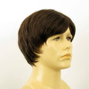 natural hair short wig for man light brown with white hair ref VICTOR 6SPW