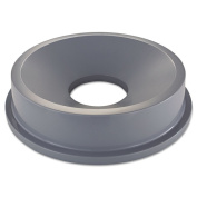Rubbermaid Commercial Grey Round Brute Funnel Top Receptacle