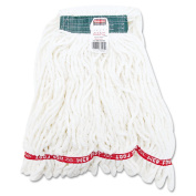 Rubbermaid Commercial Medium White Web Foot Shrinkless Looped-End Wet Mop Head
