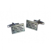 If You Cannot Do Great Things, Do Small Things in a Great Way Cufflinks X2BOCR128