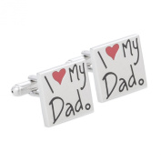 Frederic Thomass Cufflinks stainless steel Cubes silver I Love My Dad