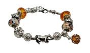Jewellery Hut Horse Themed Pandora Style Charm Bracelet with Gift Box Womens Girls Jewellery