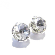 Men's 925 Silver stud earrings handmade with sparkling crystal from.