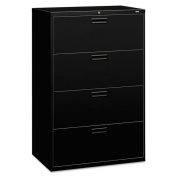 HON 500 Series Black 4-drawer Lateral File