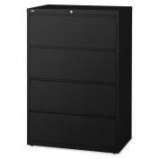 Lorell LLR60552 Black 4-drawer Lateral Files