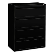 HON 700 Series 4-drawer Black Lateral File