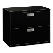HON 600 Series 2-drawer Black Lateral File