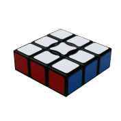 Dodolive 1x3x3 Floppy Magic Cube Brain Teaser Magic Cube Funny Educational Plastic Puzzle,Black