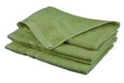 Gözze Sylt 7881-14-A3 Guest Towels (Set of 4), citrus, 30 x 50 cm