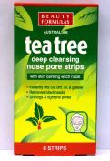 Beauty Formulas Australian tea tree deep cleansing nose pore strips - 6 strips