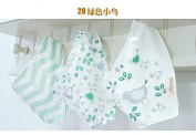 Bebedou 3 PACK GIRLS GREEN BIRDIE Super Absorbent Pure Cotton . Bandana / Dribble Bib for Babies and Toddler