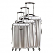 France Bag Seol 3-piece Hardside Spinner Luggage Set with Integrated Scale