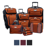 Travel Select by Traveller's Choice Amsterdam II 8-piece Deluxe Packing Luggage Set
