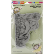 Stampendous House Mouse Cling Rubber Stamp 10cm x 15cm Sheet-Painted Pansies