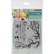 Penny Black Cling Rubber Stamp 13cm x 19cm Sheet-Winter Song