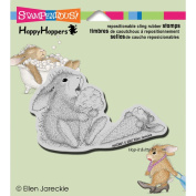 Stampendous HappyHopper Cling Rubber Stamp 8.9cm x 10cm Sheet-Ice Cream Lick