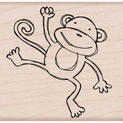 Hero Arts Mounted Rubber Stamps 7cm x 5.1cm -Playful Monkey