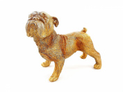 BULLDOG STATUE GOLD colour POLYRESIN DOG FIGURE - Tinas Collection - The different design