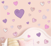 Pretty Patterned Hearts - Pack of 30 - Wall Art Vinyl Printed Stickers