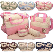 5pcs Baby Nappy Changing Nappy Bag SET & 1pcs Special Bag Organiser by BabyHugs - 6PCS in total