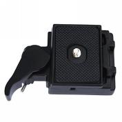 Fafada Camera Quick Release Plate Adapter Set for Camera Tripod Manfrotto Black Metal